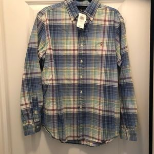 Ralph Lauren Men's Plaid Button Down Shirt